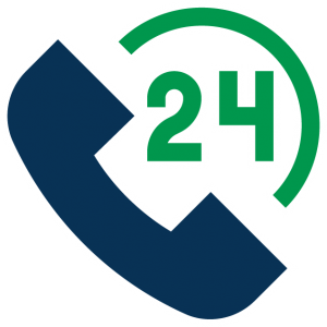 24 7 phone call icon
