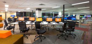 Messy QUT university computer lab before Springmount clean