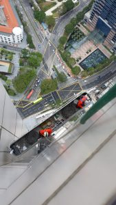From above height Exterior-Commercial-Window-Cleaning