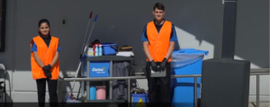 Bus cleaning staff