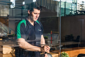 Glass Cleaning from outside