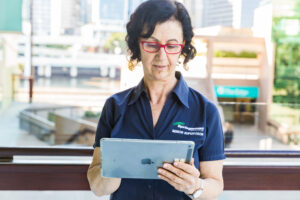 Springmount Services consulting team member with tablet