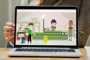 Screenshot of Springmount Services Employee online training program on a laptop