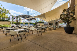 From distance QPAC eating area