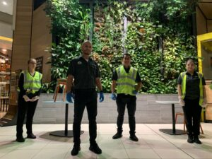 Four Springmount Services team members at Myer Centre