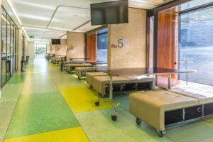 Clean seating areas at Queensland's art precinct