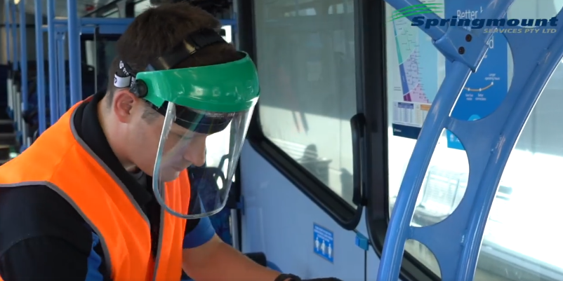NSW Springmount Bus Sanitising