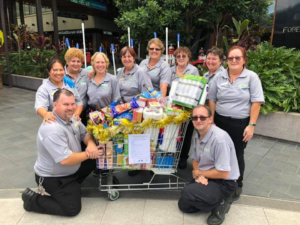 Springmount Services Cleaners at Orion with their donated goods