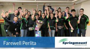 Springmount Services team farewelling Perlita