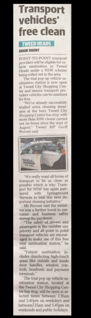 Keeping Transport clean article
