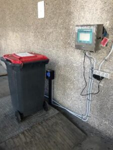 Waste Mgmt bin weighing example