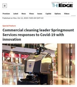 Feature article on Springmount safe COVID cleaning