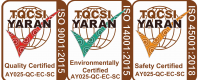 Three Springmount ISO TQCSI YARAN certifications